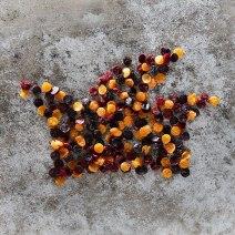 Fruchtleder-Konfetti